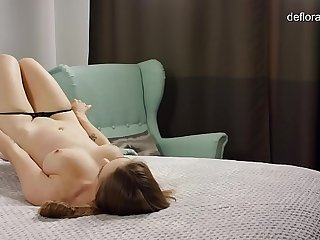 Katya Zartpopsi. Incredibly beautiful real virgin proves her virginity.