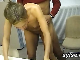 BBC for 2 Secretaries in office before anal orgy in shop for 3 MILFs