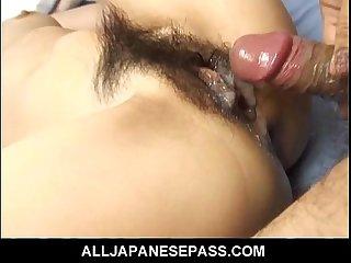 Japanese MILF Maria Asagiri hairy pussy banged