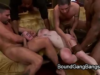 Tattooed pale babe gets double vaginal penetration