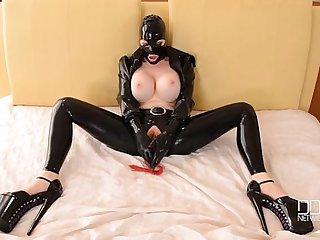 BDSM Sex Goddess Latex Lucy Masturbates till Orgasm