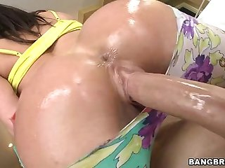 BANGBROS - Kendra Lust Impales Her Big White Ass On Giant Dick