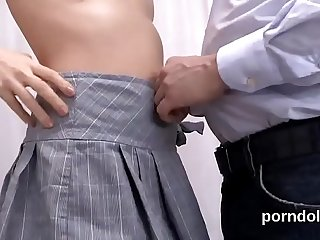 Pretty college girl is seduced and fucked by her senior teacher
