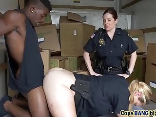 Black thief didn't expect getting this from naughty police officers