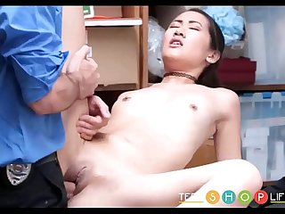 Asian Teen Jade Noir Caught Shoplifting