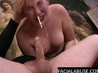 Face fucked slut gagging & sobbing