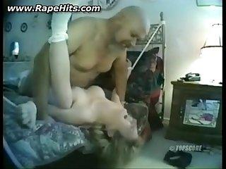 Fat older guy fucking young blonde slut