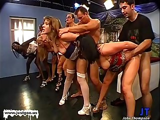 Magdalena and horny friends huge Cum Fiesta - German Goo Girls