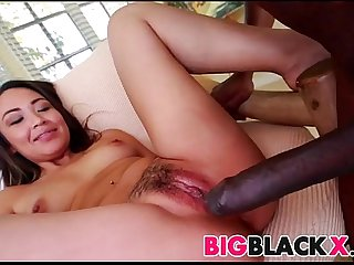 Big black cock stretches Lily Lust