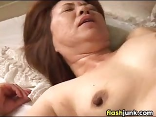 Horny Asian Granny Gets Her Pussy Rubbed