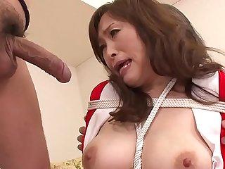 MIlf bouned in threeway blowjob for this mature slut