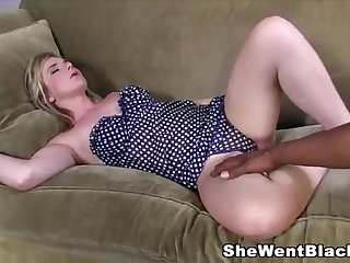 Sleeping Mandy Lou wakes up to a Big Black Dick in her Mouth